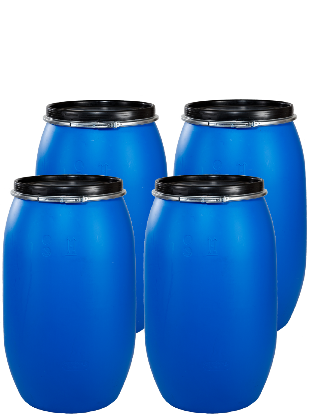 120 Litre pack of 4 drums